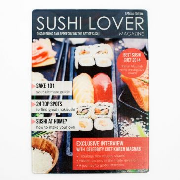 Sushi Lover Magazine, Personalised Glass Chopping Board